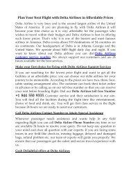 Delta Airlines Customer Service Number +1 844 550 9333
