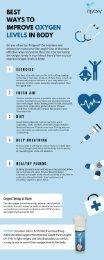 Best ways to improve oxygen levels in body