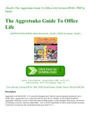( ReaD ) The Aggretsuko Guide To Office Life Forman EPUB  PDF by Sanrio