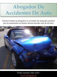 Abogados De Accidentes De Auto | Call - 213-320-0777 | abogado.la