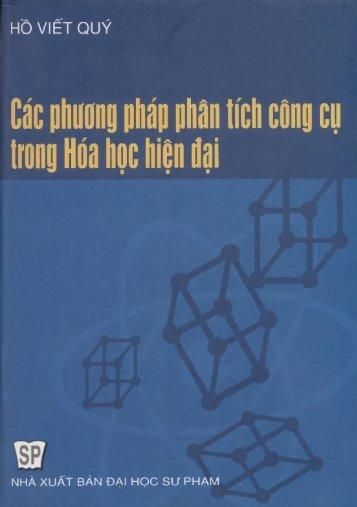 Các phương pháp phân tích công cụ trong hóa học hiện đại