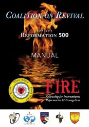 Coalition on Revival FIRE Manual