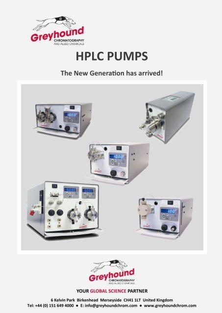 Greyhound Chromatography HPLC PUMPS CATALOGUE 2019