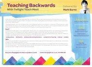 200619 FHT TWILIGHT TEACH MEET TEACHING BACKWARDS