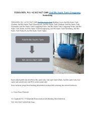 TERJAMIN, WA +62 812 9627-2689 ,Jual Bio Septic Tank ,Conggeang, Sumedang