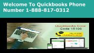 Quickbooks Phone Number | +1-888-817-0312