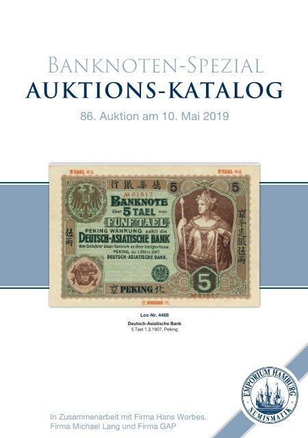 86. Auktion - Banknoten-Spezial - Emporium Hamburg