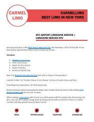 Airport Limo Service In NY | Reserve Best Rates Now | Carmellimo