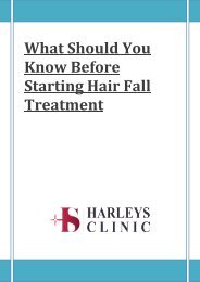 What Should You Know Before Starting Hair Fall Treatment