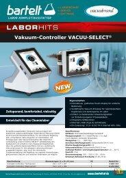 Vacuubrand Vakuum-Controller VACUU-SELECT Bartelt Laborhit