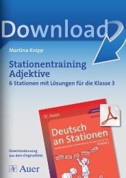 Stationentraining Adjektive - Netzwerk Lernen