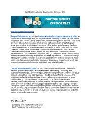 Best Custom Website Development Company USA