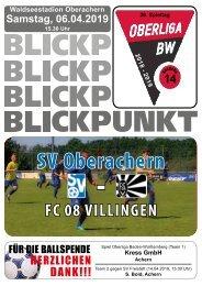 Blickpunkt SVO gegen FC 08 Villingen