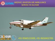 Hire Miniature Air Ambulance service in Varanasi and Silchar by Medivic Aviation