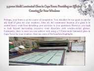 3.52mm Multi Laminated Glass in Cape Town Providing an Efficient Covering for Your Windows-converted