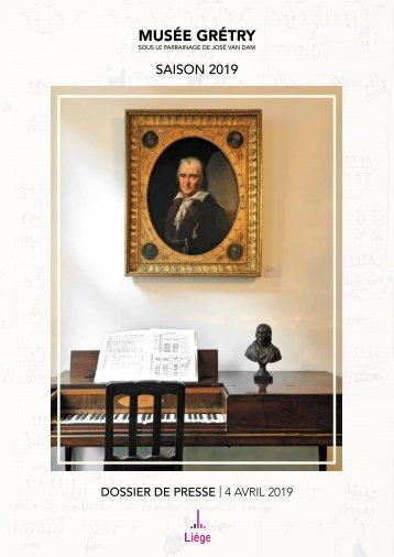 Musée Grétry - Dépôt de la Fondation Baudoin-Stradivarius de l'Espoir et Nouveautés