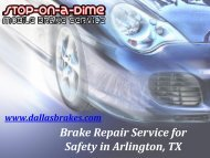 Brake Repair Service for Safety in Arlington, TX