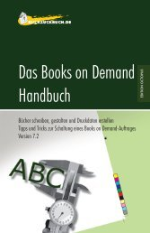 Das Books on Demand Handbuch - Ruckzuckbuch