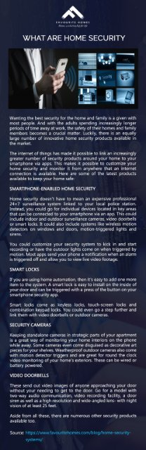 Home Security System Trends