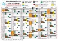 Abfuhrkalender 2009 Stadt Hückeswagen - Bergischer ...
