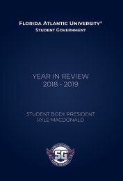 Student Government Year In Review 2018-2019