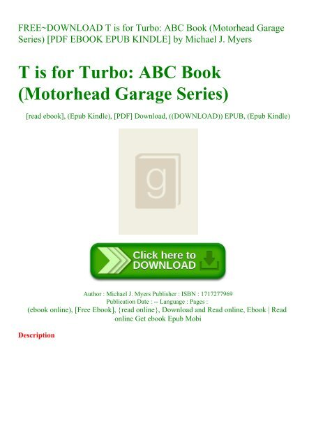 Free Download T Is For Turbo Abc Book Motorhead Garage