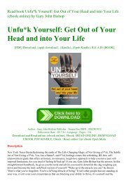 Read book Unfuk Yourself Get Out of Your Head and into Your Life (ebook online) by Gary John Bishop