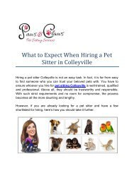 Hire Professional Pet Sitter in Colleyville