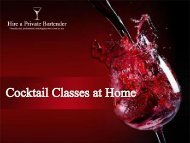 Hire Cocktail Classes At Home from Hire a Private Bartender