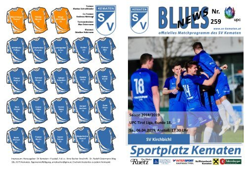 Blues News 259: SV Kematen vs. SV Kirchbichl
