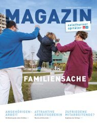 Magazin Mitarbeitende Solothurner Spitäler soH 1/19 - Familiensache