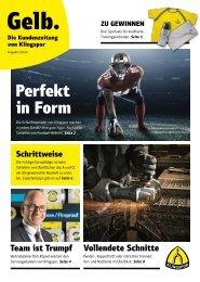 Gelb. Die Kundenzeitung von Klingspor - Ausgabe 1|2019