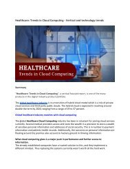 Healthcare_ Trends in Cloud Computing - Vertical and technology trends