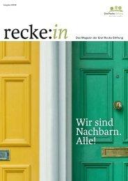 recke:in - Das Magazin der Graf Recke Stiftung Ausgabe 4/2018