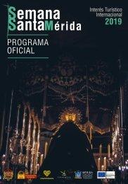 Programa de Mano de la Semana Santa de Mérida2019