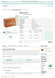 Vidalista 60 mg Online | Vidalista 60 Reviews, Side Effects, Price, Dosage