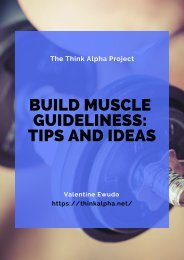 Build Muscle Guideliness: Tips and Ideas