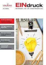 EINDRUCK - Der Newsletter von Göbel+Lenze Ausgabe 1 2019