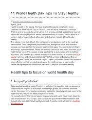 11 World Health Day Tips To Stay Healthy