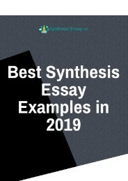 Best Synthesis Essays Examples in 2019