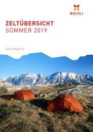 Zeltübersicht Sommer 2019
