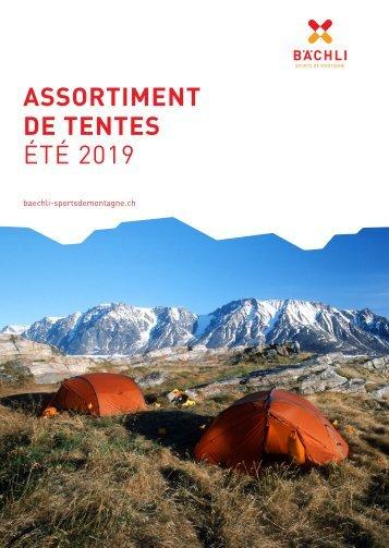 Assortiment de tentes - Été 2019
