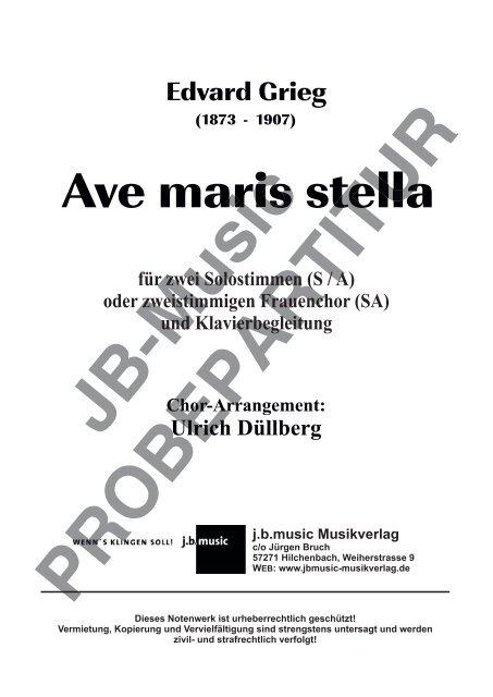 Ave maris stella (für zwei Solostimmen S/A oder zweistimm. Frauenchor SA)
