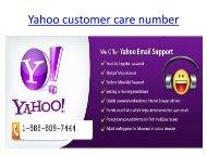 Yahoo-customer-care-number