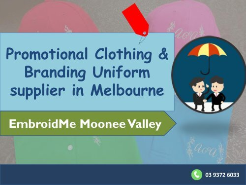 Promotional clothing and Branding uniform supplier