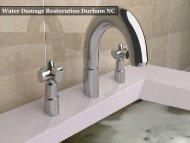 Emergency Water Damage Restoration Company Cary NC