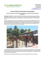 Charles Paddock Zoo Adds Solar Energy System