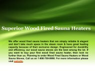 Superior Wood Fired Sauna Heaters