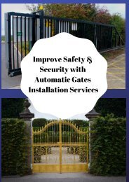 Improve Safety & Security with Automatic Gates Installation Services