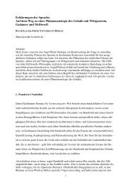 Erfahrungen der Sprache. Auf dem Weg zu einer Phänomenologie ...